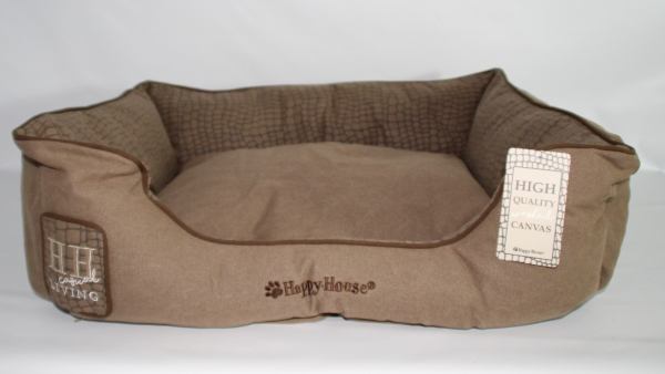 hundebett_happy_house_braun_vorne